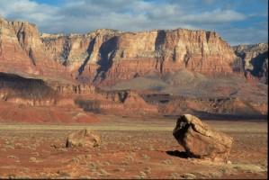 désert, canyon, vue