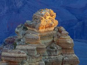 grande, canyon, tramonto