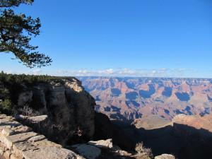 s výhledem na Grand, canyon, krajina,