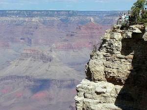 grandes, canyons, falaises, touristes