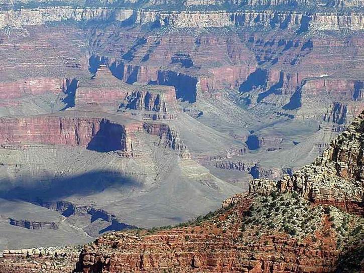 grandes, canyons, falaises, vallées