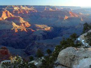grand, canyons, coucher de soleil, Yaki, le point