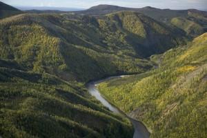 fiume, canyon, Kanuti, parco nazionale