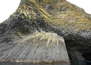 akun, isola, colonnare, basalto, grotta