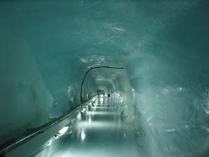 hielo, cueva, agujero