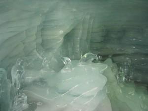hielo, cueva, bajo tierra