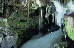 glace, grottes, scénique, monument