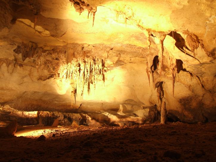 limestone, formations, cave