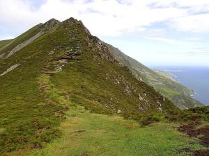 vert, falaises, l'irlande
