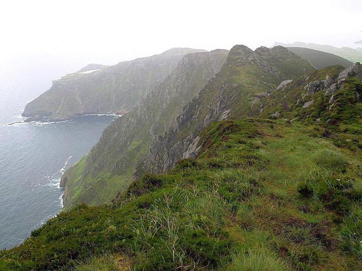 littoral, rivage rocheux, océan, montagne, falaises