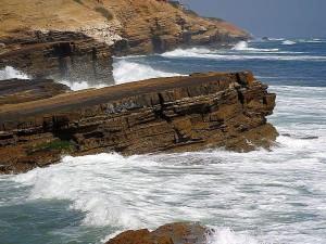 ocean, cliffs, nature