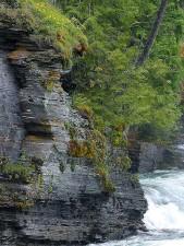 river, cliff