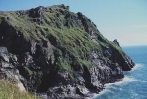 rocheux, falaises, ligne, sud-ouest, côte, Togiak, refuge