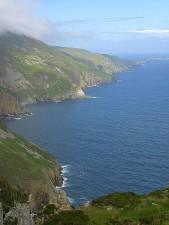 littoral, falaises côtières rocheuses, Irlande, mer, nature
