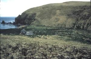 agattu, island, cove, cabins