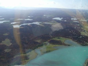 burned area, nead, lake, aerial, photo
