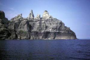 Castle, cabo, Alasca, costa rochosa, península,