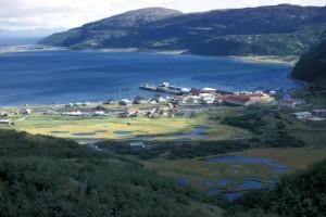 chignik, village, summer