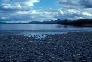 облачно, ден, река, брега