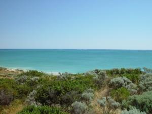 dunes, scrub, sea, quinns, rocks