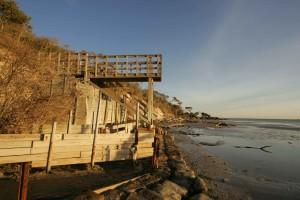 observation, deck, shoreline