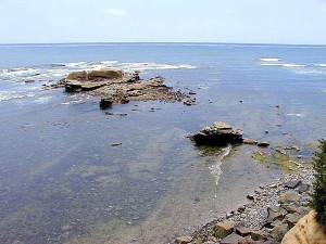 océan, rocheux, rivage