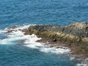 rocky, sea, shore, water