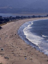 plage stinson, le point reyes, parc national, littoral