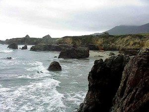 vlny, pláž, pobřeží, oceán, voda