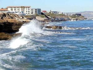 vlny, oceán, pobřeží