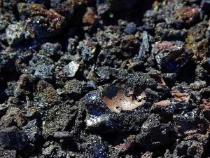 lave, volcans, iridescent, irisation