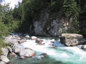 froid, montagne, ruisseau, Alaska