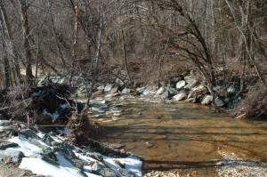 shot, hagen, ruisseau, Maryland