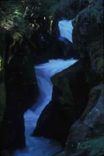 avalanche, ruisseau, cascade, en aval rocheux, terrain, glacier, parc, national