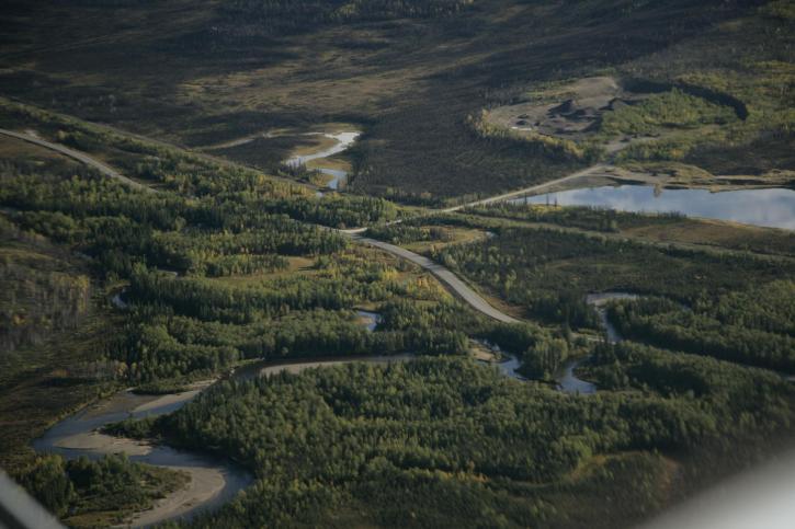 dalton, autoroute, croisement, Bonanza, ruisseau