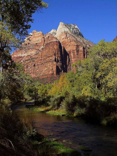 montagnes, ruisseaux, Zion