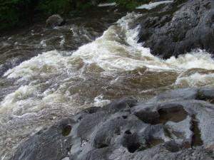 eau, écoulement, rochers