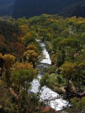 Zion národní park údolí, údolí, potoky
