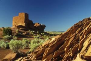 Indian, ruins, Arizona, desert