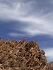 rock, affleurement, Anza, Borrego, désert