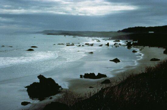 Kalifornia, coast, dusk