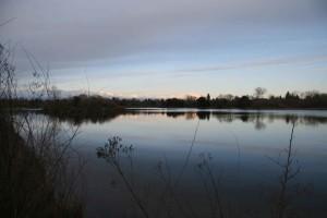 dawn, river, scenic