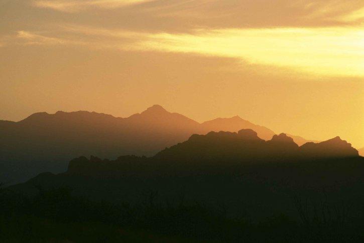 desert, sky, scene, dusk