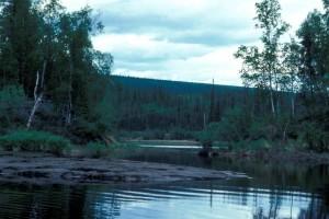 lac, crépuscule