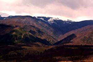 montaña, el polvo