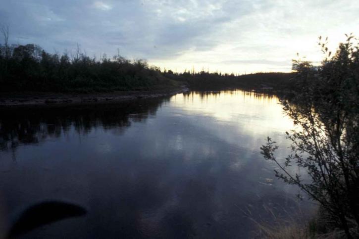 river, dusk, scenics