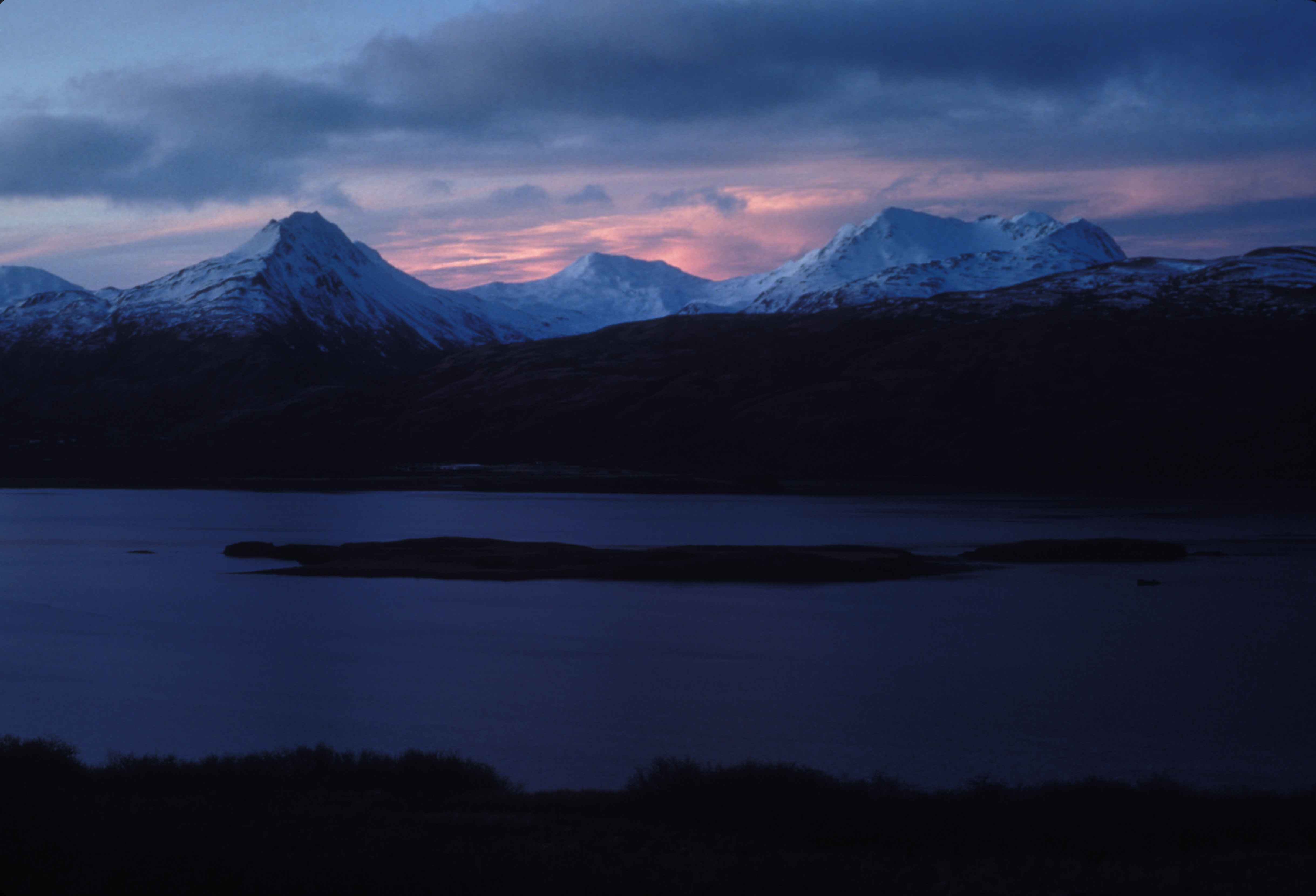 Free Picture Snow Covered Mountains Dusk Scenics