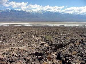 désert, mort, vallée, sel