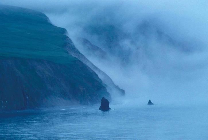 เบริง ทะเล หมอก หมอก เข้ามาเยี่ยม