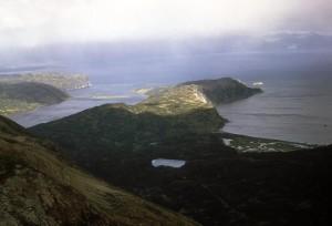 foggy, Chignik, mountain, Aleutian, islands